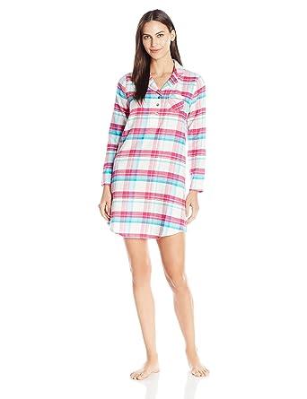 239c3fa342 Jockey Women s Plaid Flannel Sleepshirt at Amazon Women s Clothing ...