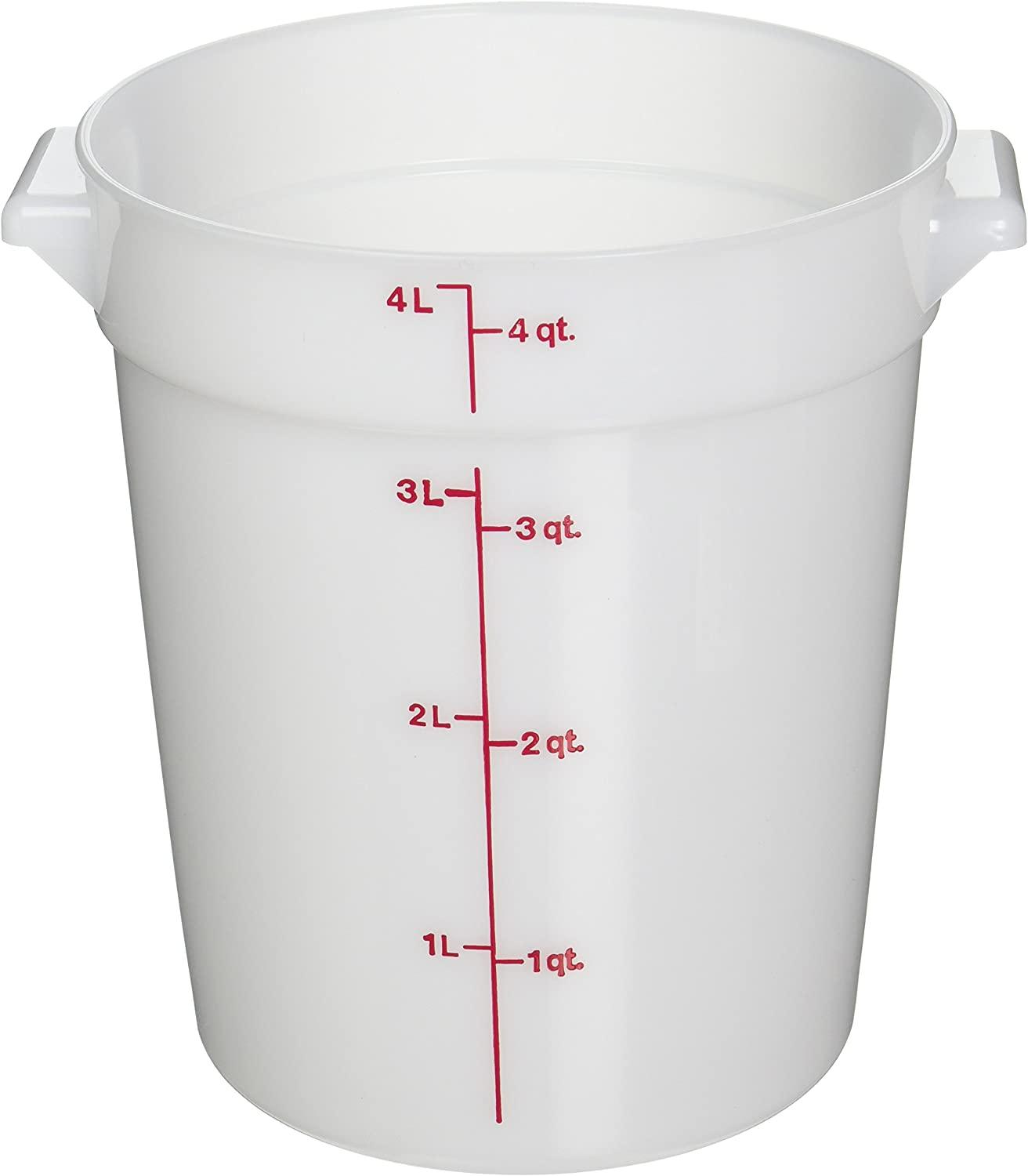 Cambro RFS4148 White Poly Round 4 Qt Storage Container