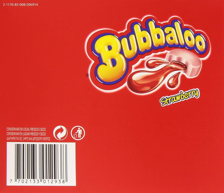 Bubbaloo - Chicle con relleno liquido, sabor a fresa (60 chicles xe 5 g=300g)