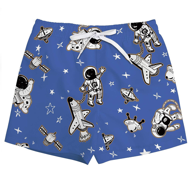 Funnycokid Boys Shorts 3D Printed Funny Swimwear Quick Dry Beachwear Kids Board Trunks 3-10 Years