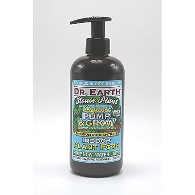 Dr. Earth Organic & Natural Pump & Grow House Liquid Plant Food 16 oz, Blue : Garden & Outdoor