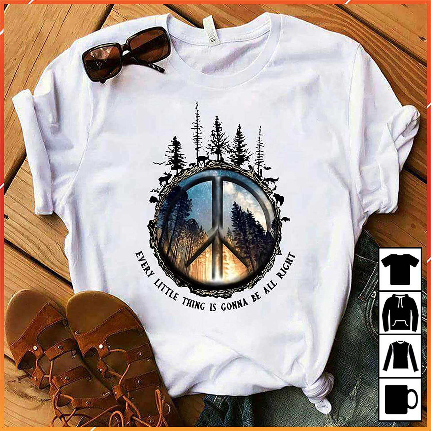 Clothing Tops & Tees Run Away And Live In the Woods T-Shirt Long ...
