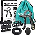 5-Pk. SYNERKY Hand Grip Strength Trainer Set Workout Kit