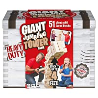 Deals on Spin Master Giant Jumbling Tower Party Game w/51 Wood Blocks