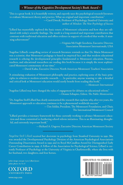 Montessori: The Science Behind the Genius: Amazon.co.uk: Angeline Stoll  Lillard: 9780195369366: Books