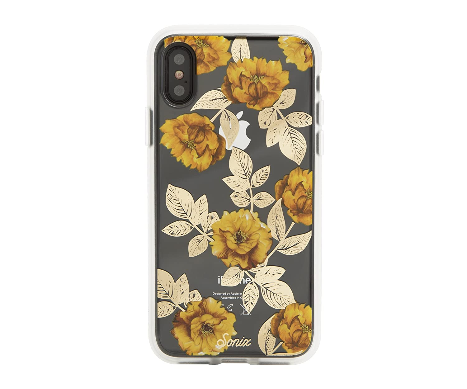huge selection of 9f45b 0786f Sonix AUTUMN FLORAL (yellow flowers) Cell Phone Case [Military Drop Test  Certified] Sonix Women's Protective Clear Case for Apple iPhone X, iPhone XS