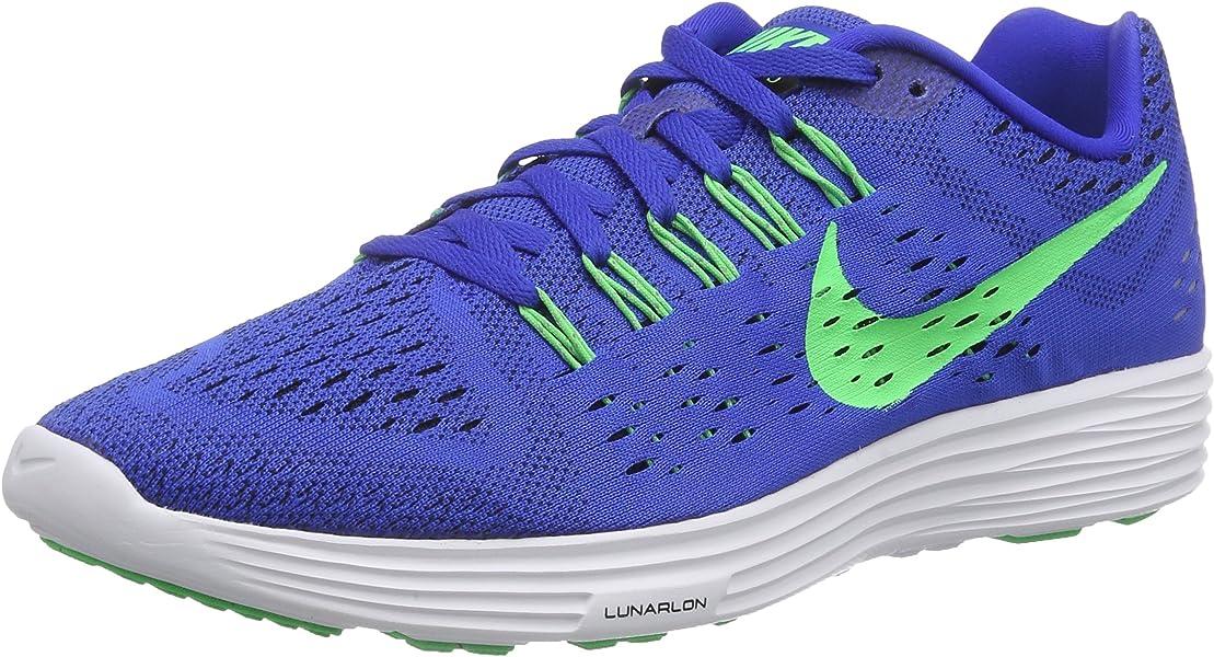 new concept e0599 632b4 Nike Mens Lunartempo Lyon Blue Psn Green White Blk Running Shoe 10 Men