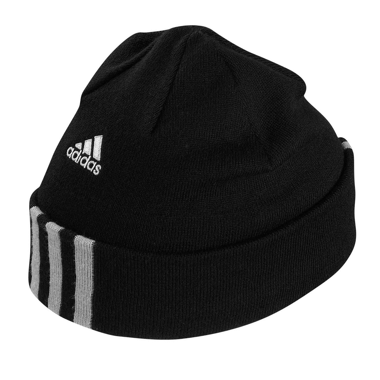 eb2a51d81 adidas Performance Mens 3 Stripe Fleece Lined Beanie Hat Black