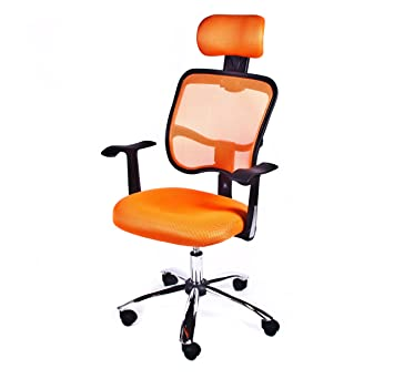 orange gt mesh ergonomic office chair amazon co uk office products