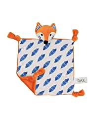 Dax The Organic Cotton Baby Comforter – Breathable and Soft Security Blanket, Plush Toy, Lightweight, Perfect Companion for Sleeping, Fox Design