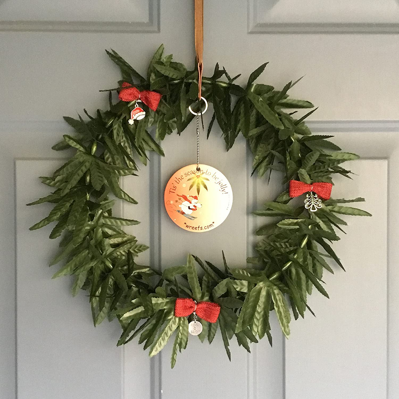 Amazon Wreefs Decorative Artificial Marijuana Weed Wreath 420