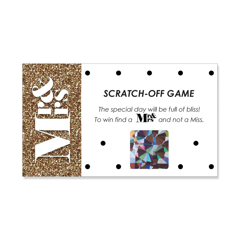 Mr Mrs Wedding Bridal Scratch Image 1