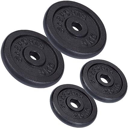 ScSPORTS – Juego de Pesas (15 kg Hierro Fundido 2 x 2,5 kg