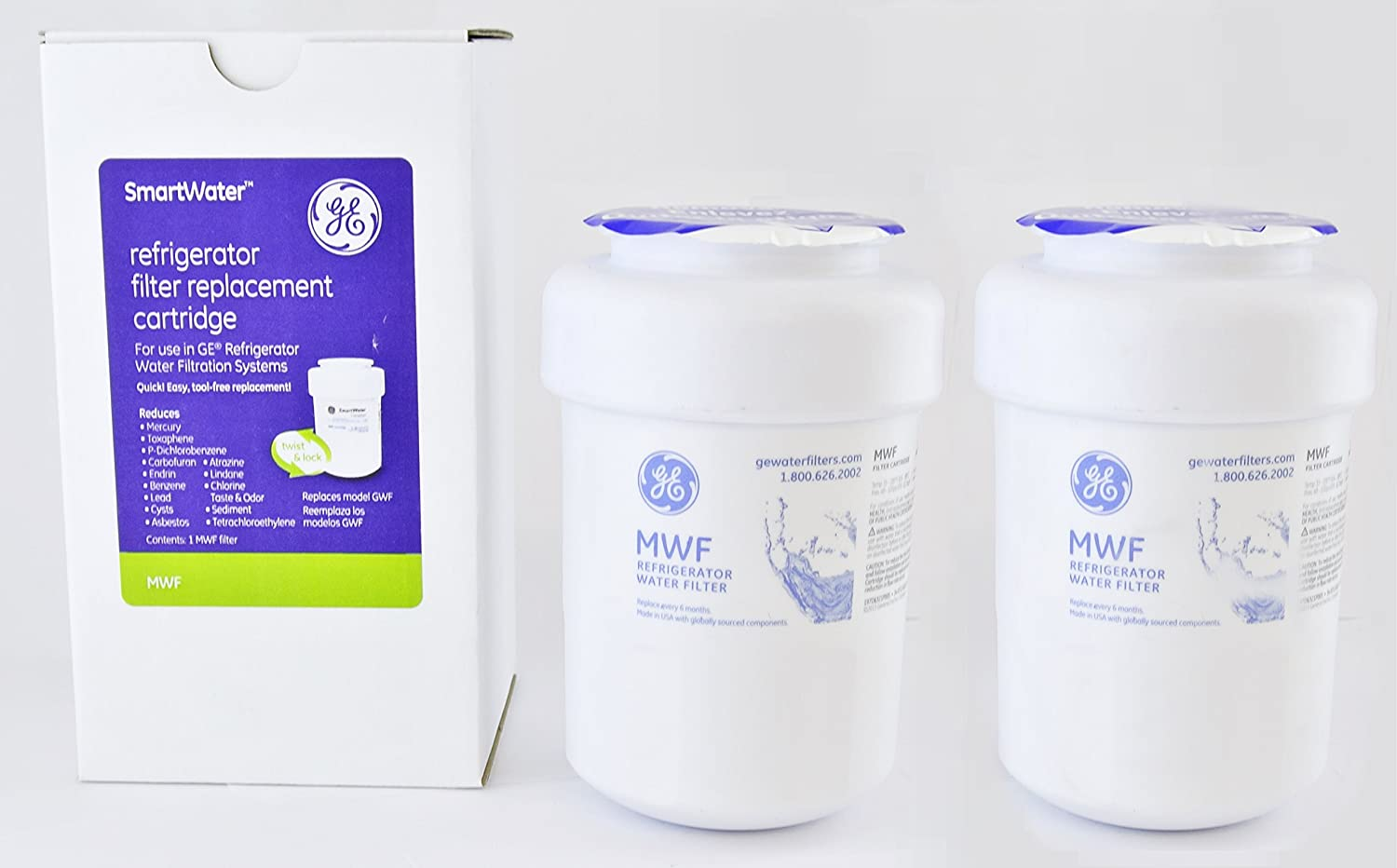 Refrigerator Water Filter Mwf Ge Mwf Refrigerator Water Filter Pack Of 2 Amazoncouk Kitchen