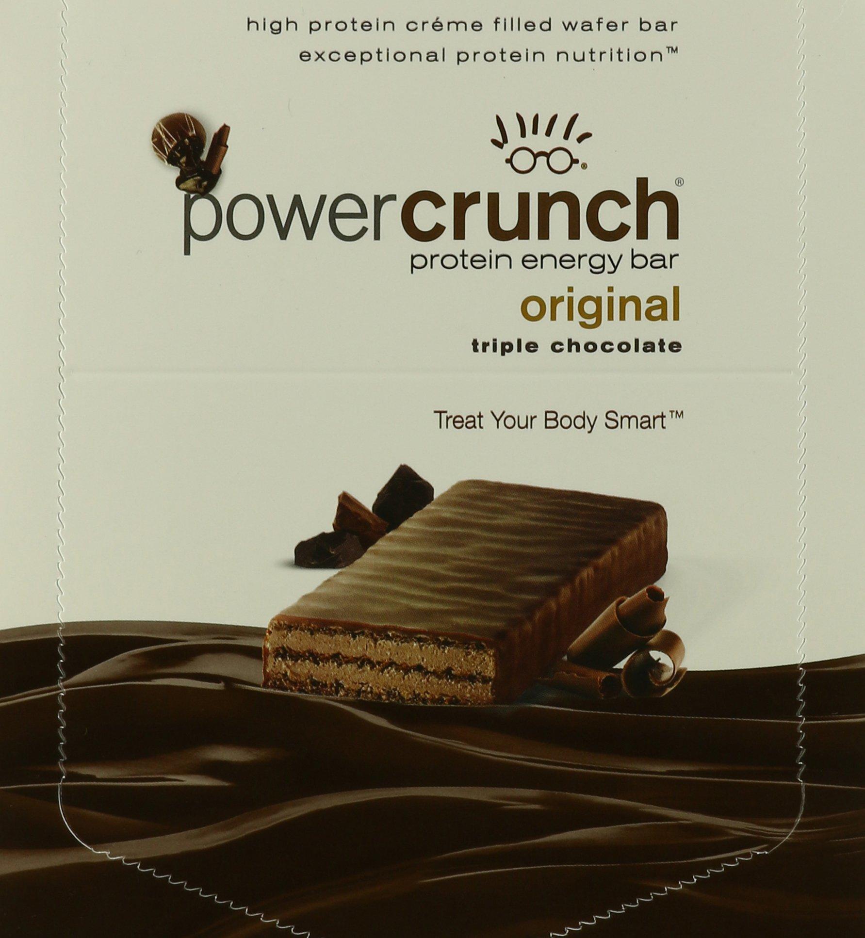 Power Crunch Triple Chocolate, 1.4-Ounce Bar, 12 Count