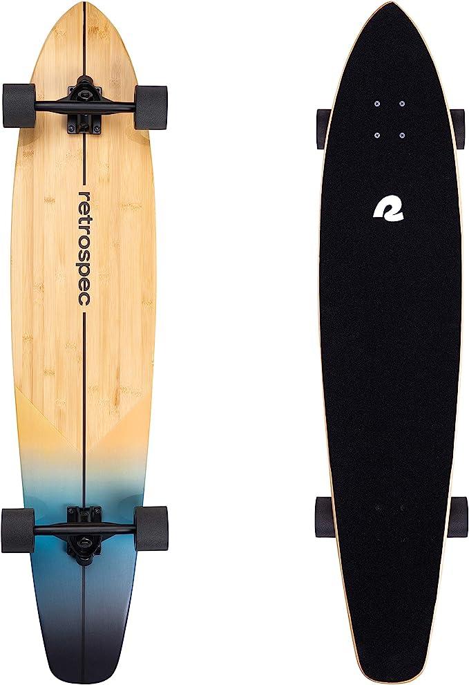 Retrospec Zed Longboard Pintail Bamboo Skateboard
