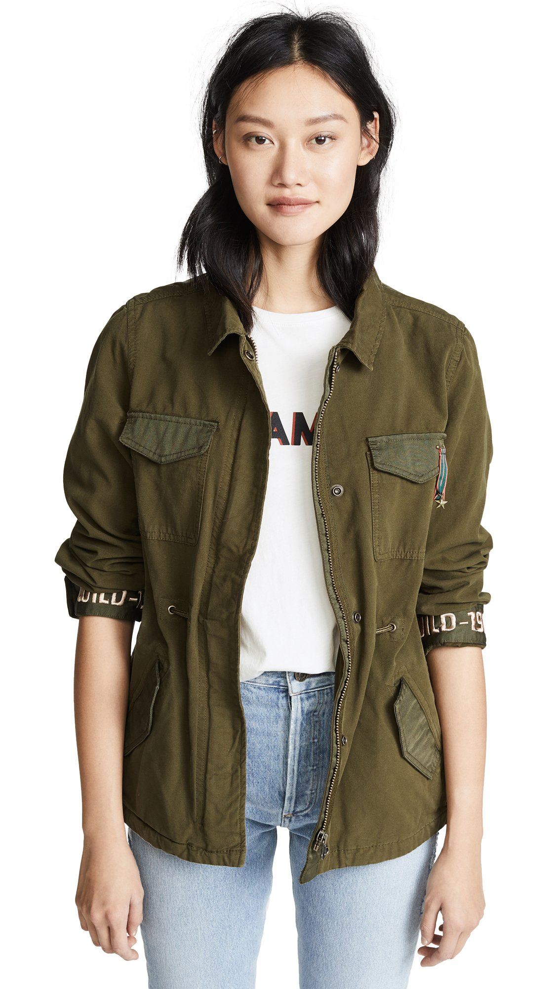 Scotch & Soda Maison Scotch Women's Festival Army Jacket, Army, Medium