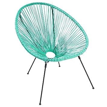 Riess Ambiente Moderner Acapulco Sessel Türkis Gartenstuhl Wetterfest  Outdoorstuhl Relaxsessel Stuhl