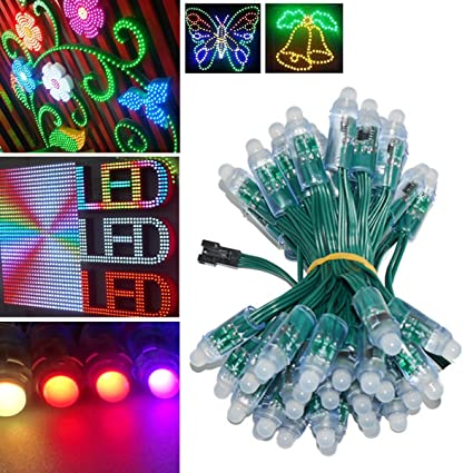 amazon com wesiri ws2811 diffused digital rgb led pixel lights