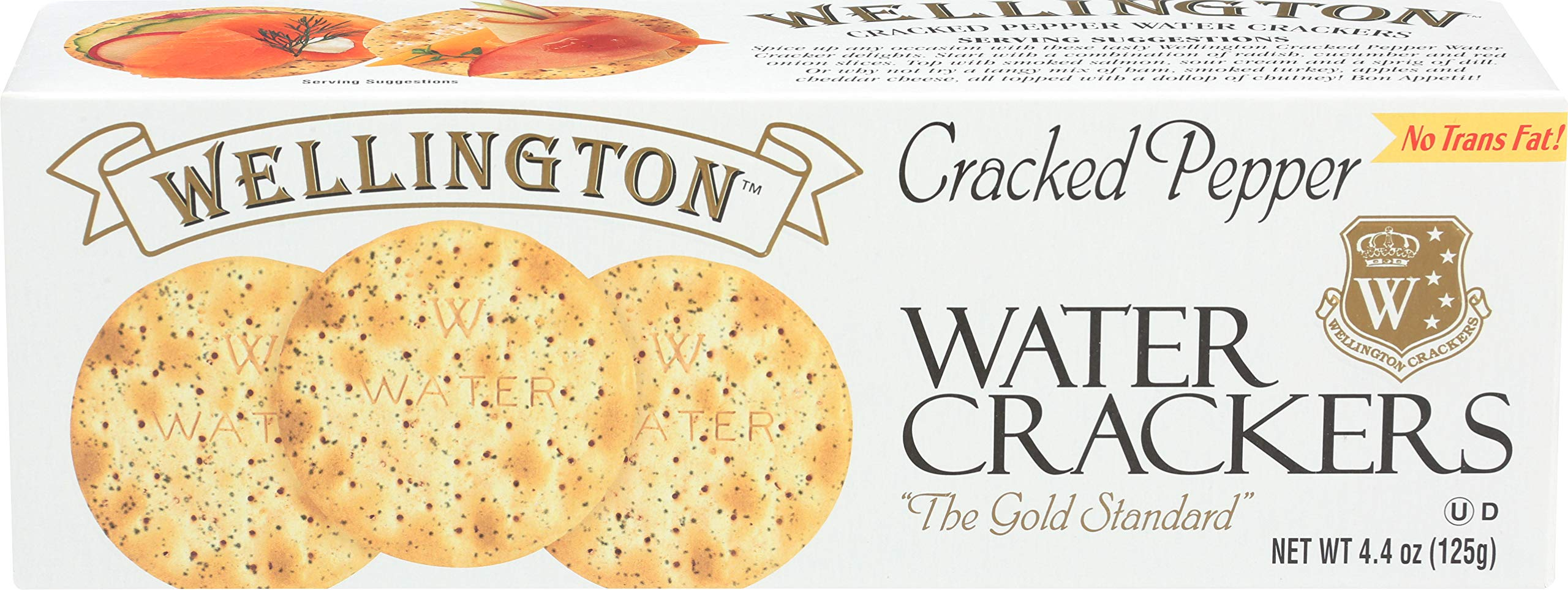 Wellington Cracked Pepper Crackers, 4.4-Ounces (Pack of 12)