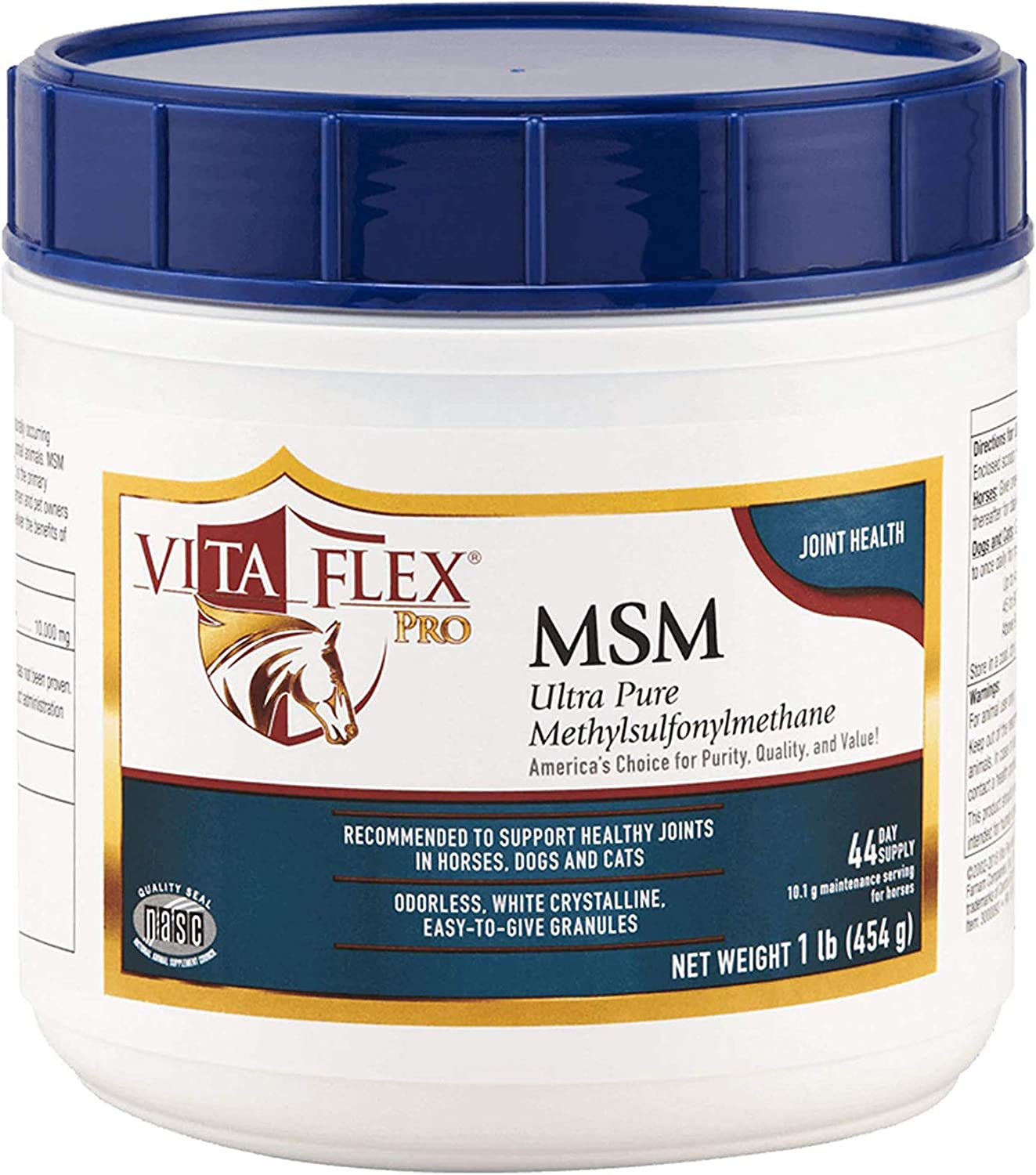 Vita Flex Pro MSM Joint Supplement | Odorless | for Horses, Ponies, Dogs and Cats