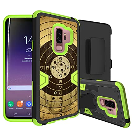 premium selection 9900b 40df7 MINITURTLE Case Compatible w/Neon HighImpact Samsung Galaxy S9 Plus Case  w/Hybrid Silicone & Hard Exterior Clip + Stand Case for Galaxy S9 Plus  Target