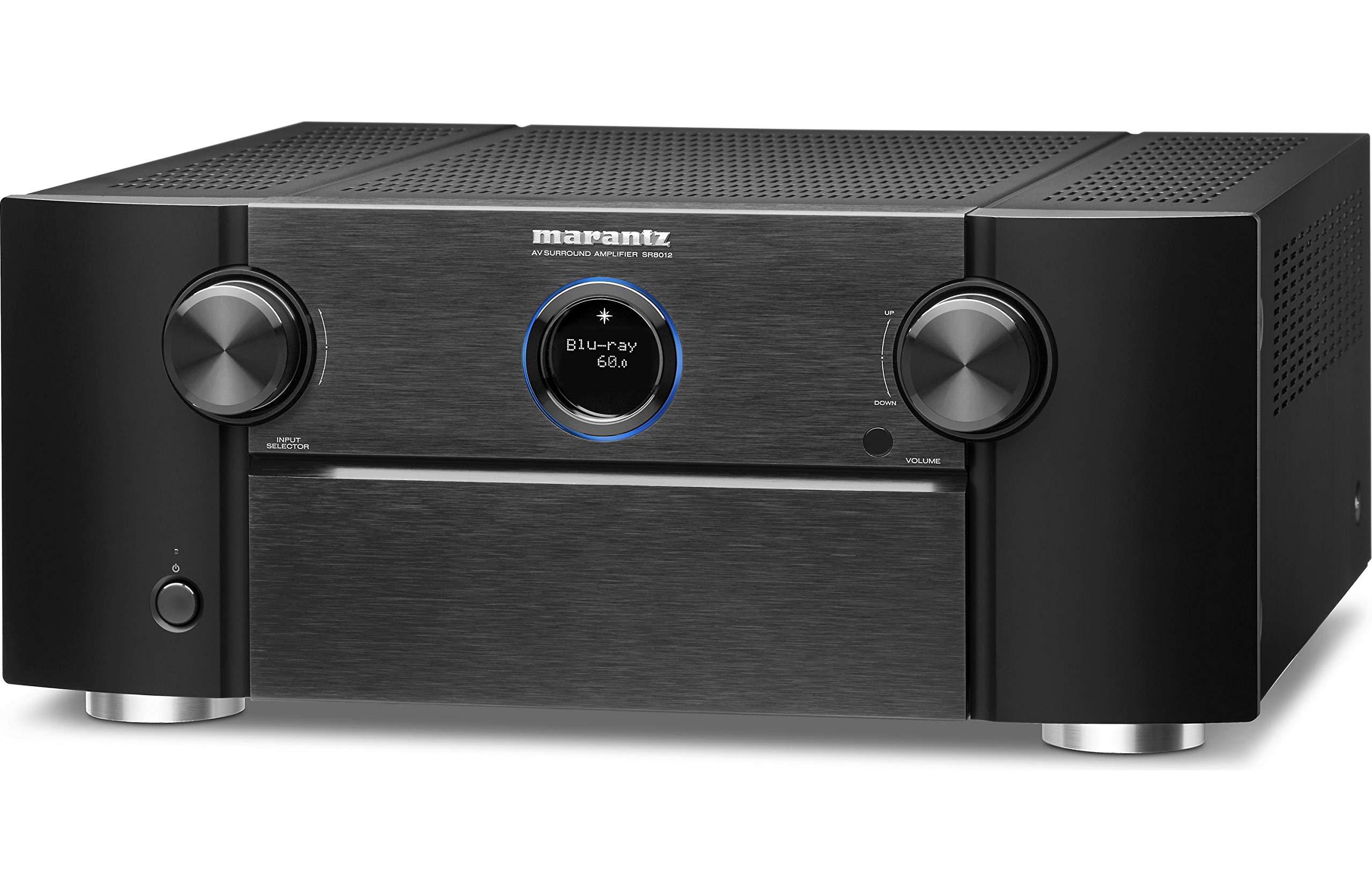Receptor AV Marantz SR8012: primer canal de 11.2 canales de alto rendimiento, Auro 3D, IMAX mejorado, sonido Dolby Surround, 205 W de potencia de 3 zonas