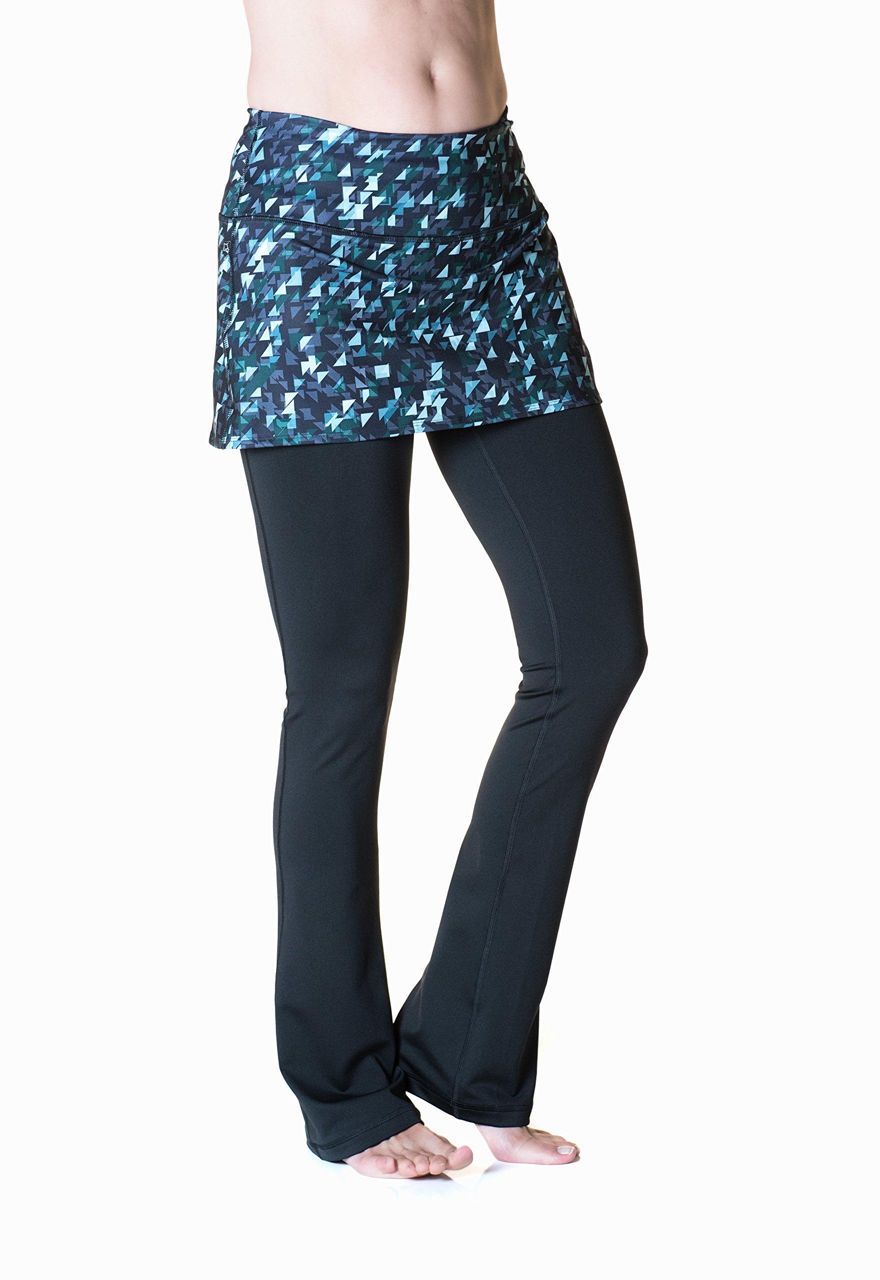 Skirt Sports Women's Tough Girl Skirt, Love Triangle Print/Black, XX-Large