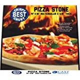 Make The Best Crispy Crust Pizza Use the Only Pizza Stone with Thermarite (Engineered Tuff Cordierite). Durable, Certified Safe. Good in Ovens & Grills. 14 x 16 Rectangular. Recipe Ebook+ Free Scraper