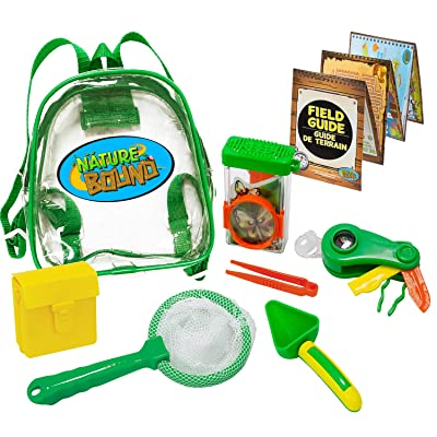Nature Bound Adventure Backpack with Net, Shovel, Tongs, Habitat, Multi-Tool, & Collection Box, 7Piece Set: Toys & Games