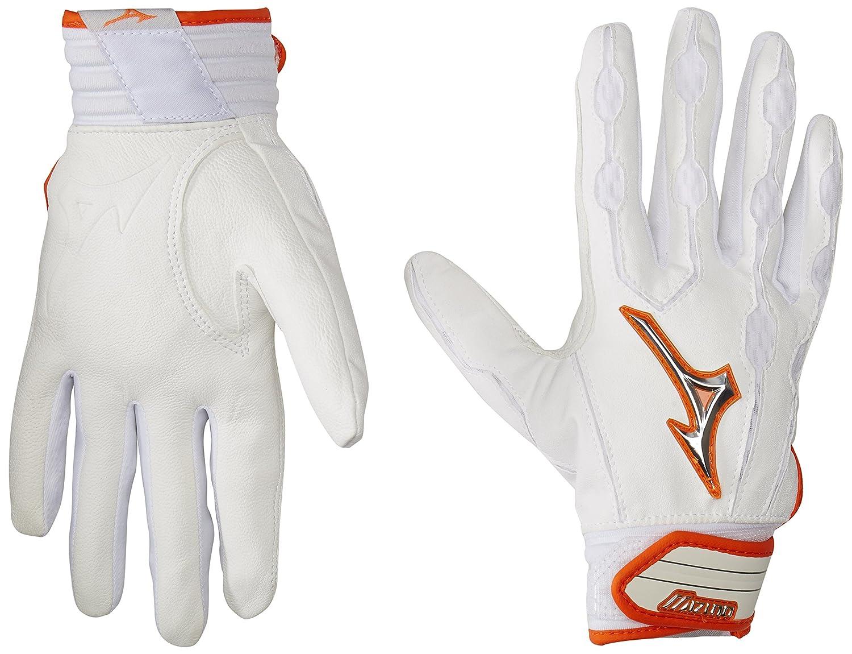 Mizuno Youth Covertバッティング手袋 B01IU5UIA8 Medium|ホワイト/オレンジ ホワイト/オレンジ Medium