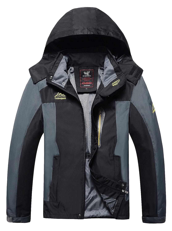 4How Mens Sports Lightweight Jacket Waterproof Hooded