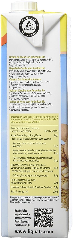 Monsoy Avena con Almendra Bebida Vegetal - 4 Paquetes x 1000 ml - Total: 4000 ml: Amazon.es: Alimentación y bebidas