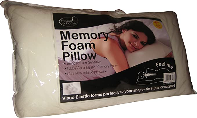 Coloroll Memory Foam Pillow, 40 x 65 cm