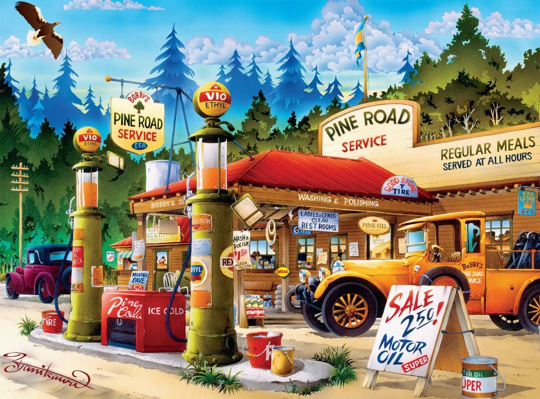 Buffalo Games - Cartoon World - Pine Road Service - 1000 Piece Jigsaw Puzzle