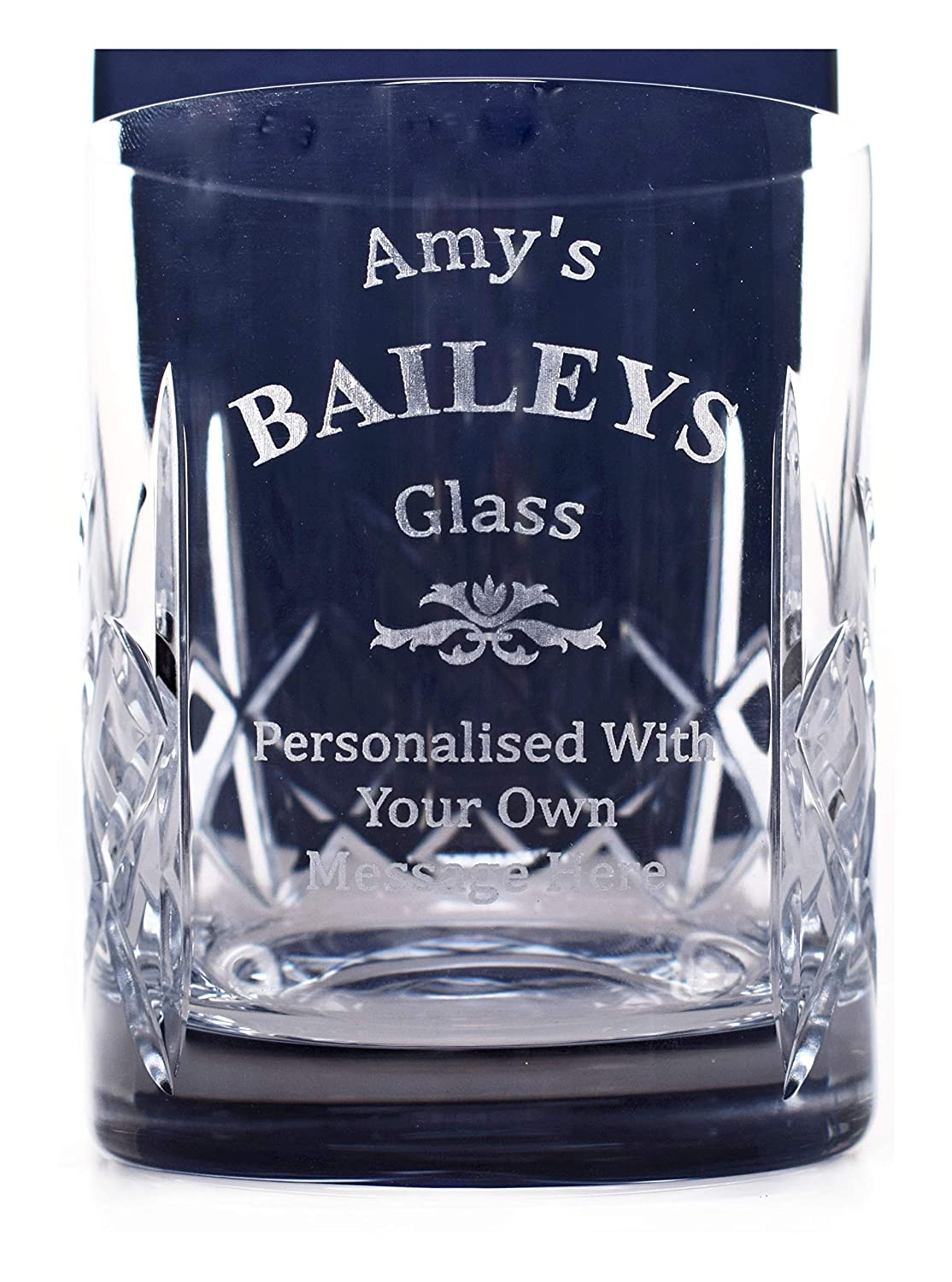 Engraved/Personalised BAILEYS Crystal Glass Tumbler Gift For Mothers Day/Valentines Day/Women/Men/18th/21st/30th/40th/50th/Birthday/Christmas/Mum/Step Dad/Nanny/Bridesmaid/Mother of the Bride/Wedding/Wife/Daughter/Grandad/Daddy/Mummy/Nan/Son/Sister/Auntie