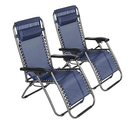 Amazon.com: LUCKYERMORE 2-Pack Zero Gravity Chair Folding ...