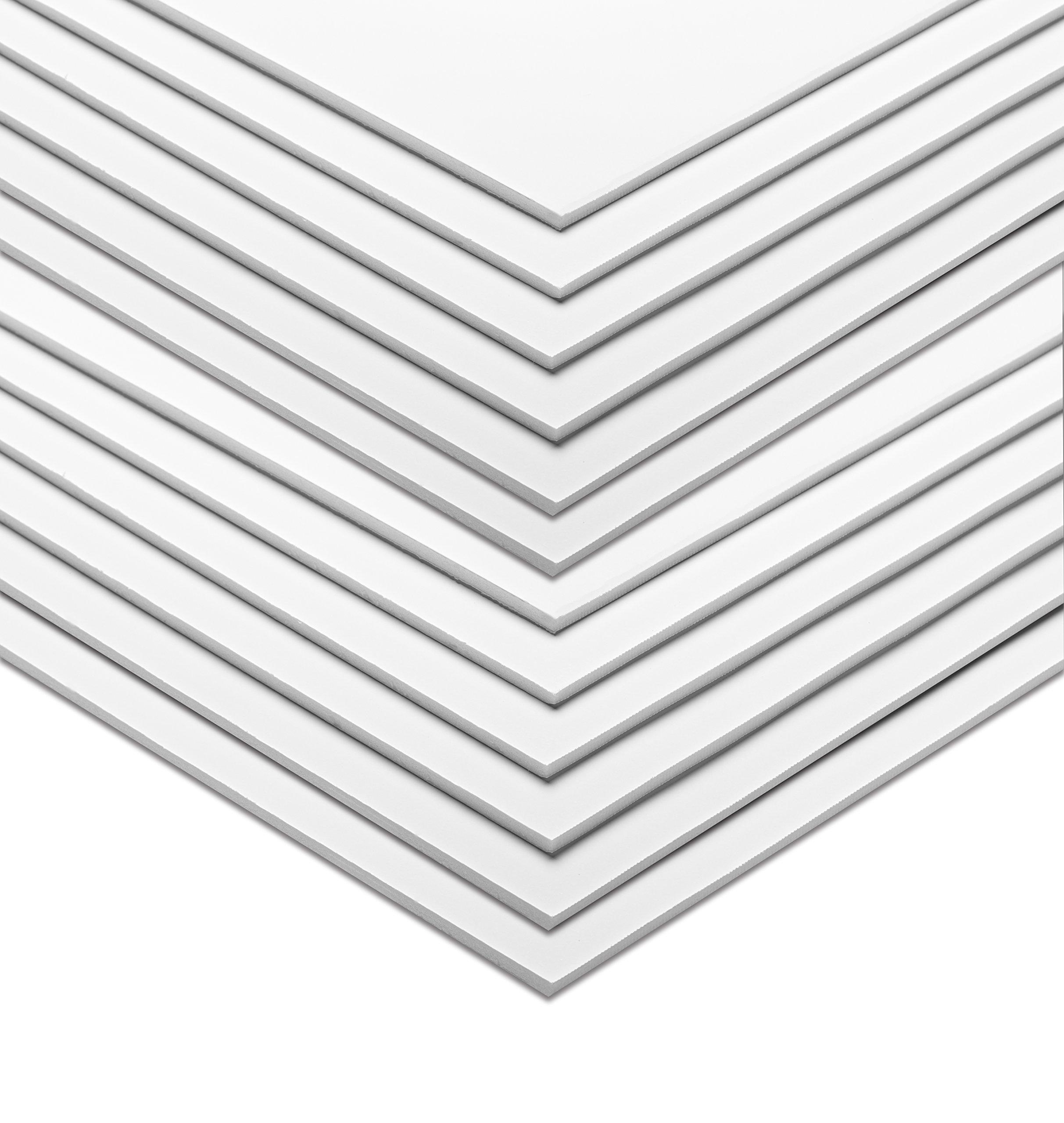 AdirOffice Foam Board 5mm Sheets (16'' x 20'' - 12 Pack, White)