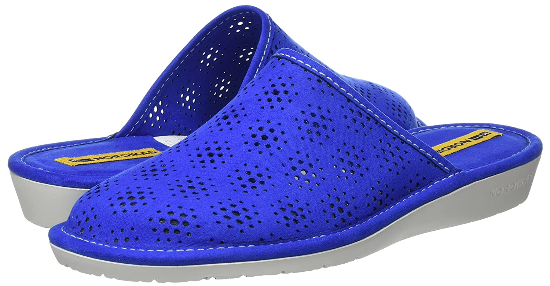 Nordikas Damen 3091 Pantoffeln, Blau, 41 EU