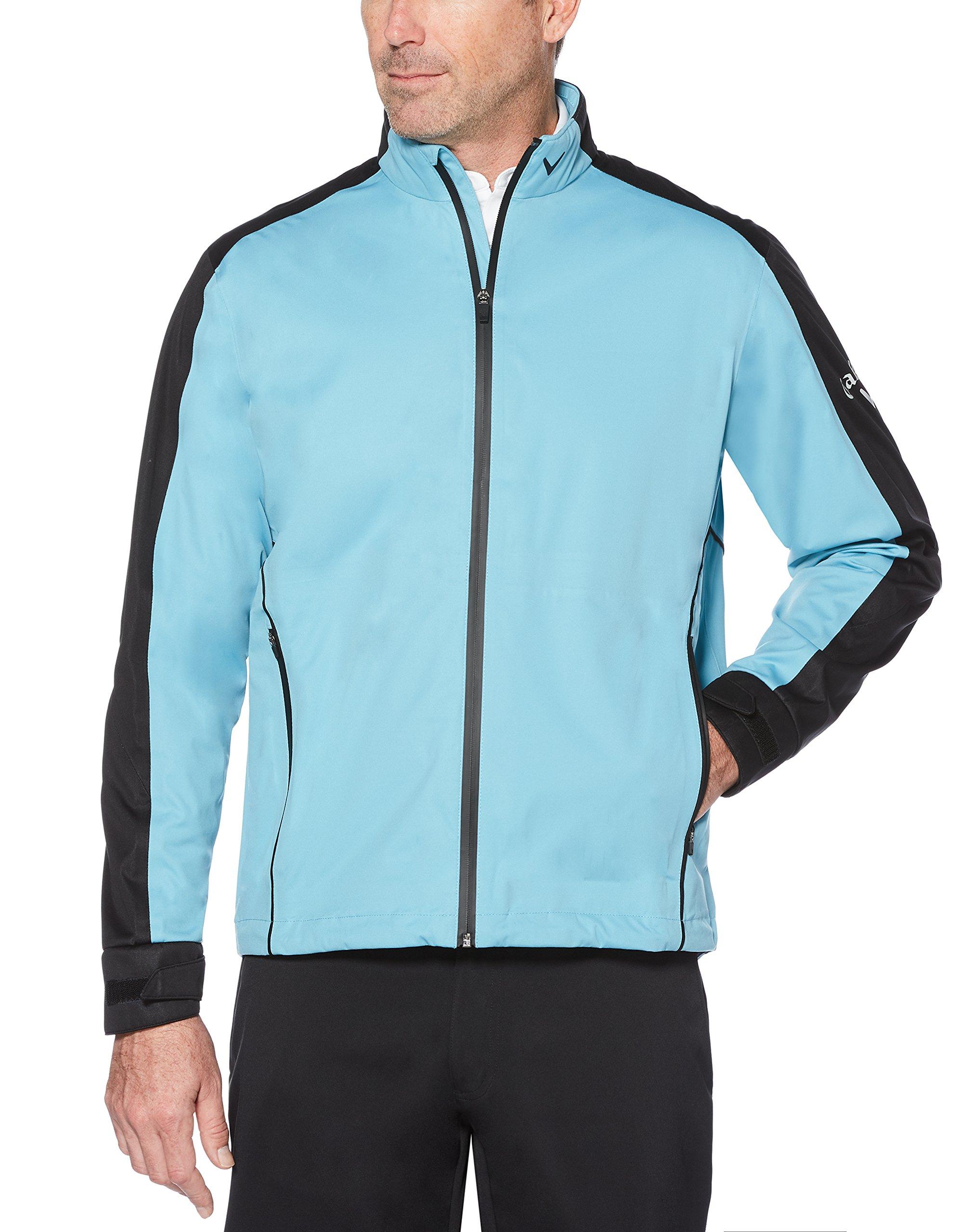 Callaway Men's Waterproof Full-zip Golf Jacket, Delphinium Blue, X-Large by Callaway
