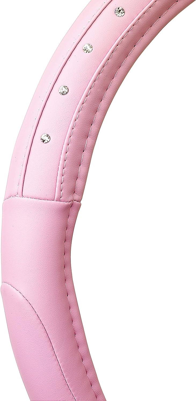 con Diamanti Argento Rosa SUMEX Copri-Volante in Pelle Colore