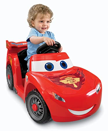 amazon com power wheels disney pixar cars 2 lil lightning mcqueen