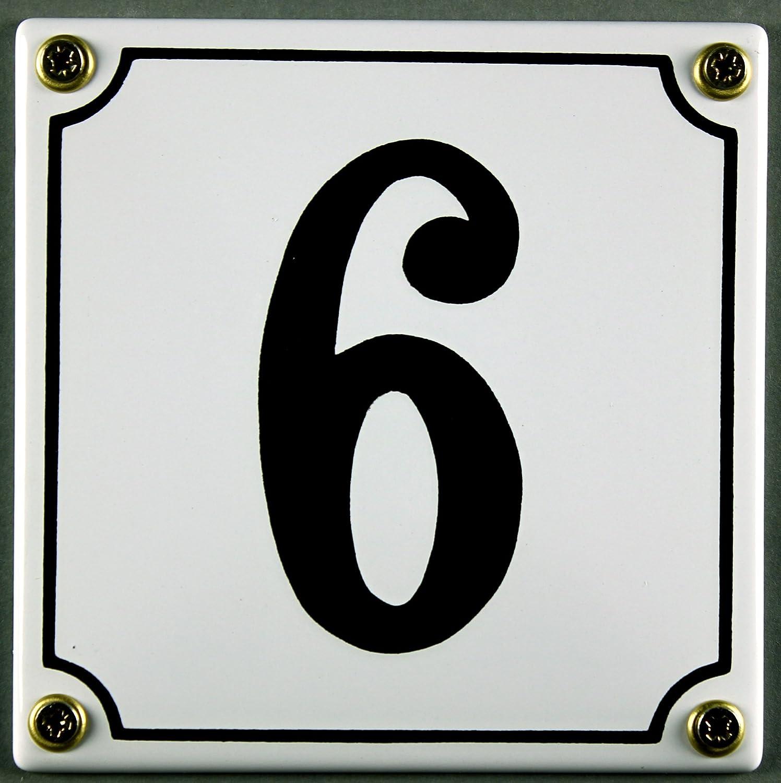 """Aluminium Hausnummer /""""2/"""" 10x10cm blau Hausnummernschild sofort lieferbar Schild"""