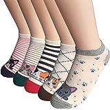 FAYBOX 5 Pack Women Low Cut Ankle Socks No Show Running Sport