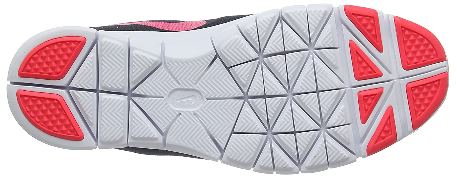 NIKE Women's Flex Essential Tr Training Shoe B009CILTTM 5|Black/Racer Pink-anthracite