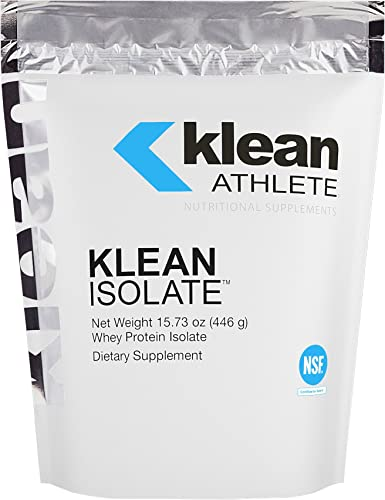 Klean Athlete – Klean Isolate – Whey Protein Isolate to Enhance Daily Protein and Amino Acid Intake for Muscle Integrity* – NSF Certified for Sport – Unflavored – 15.73 oz 446 g