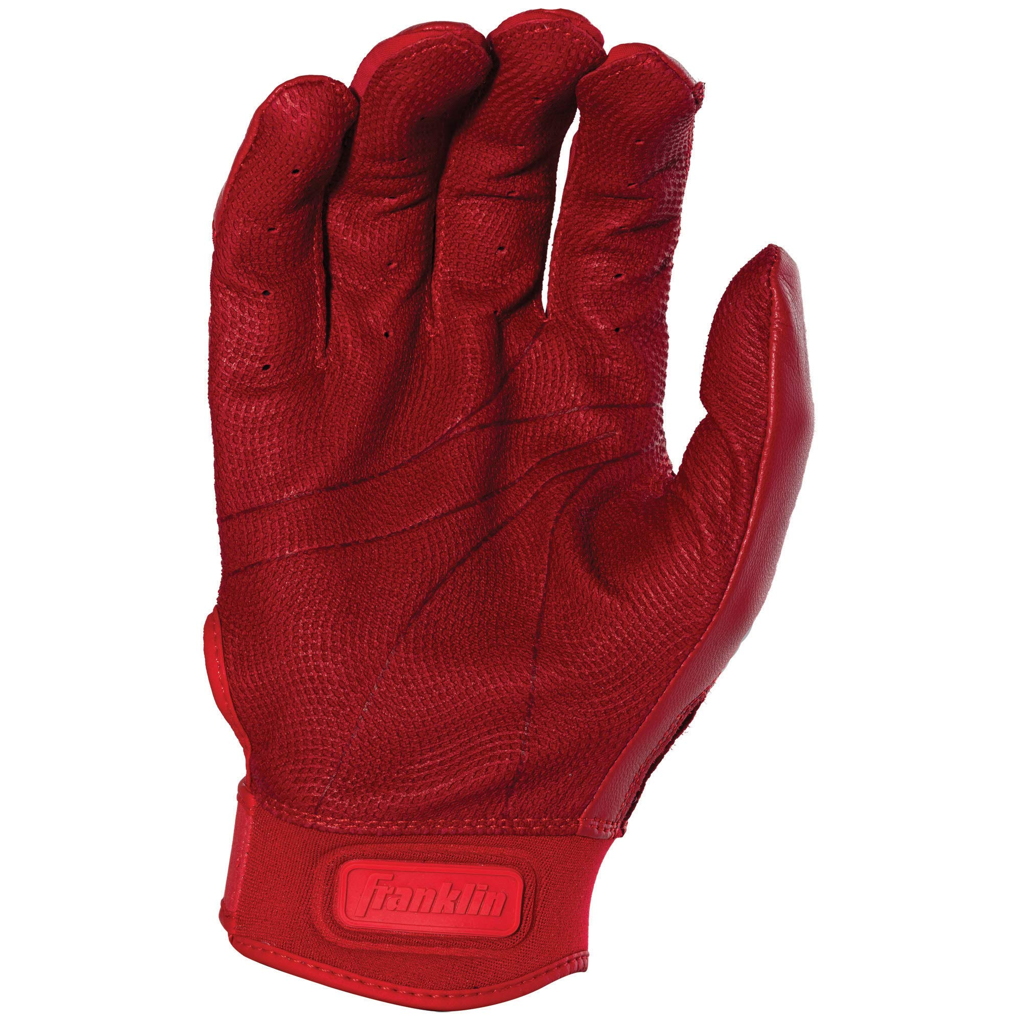Franklin Sports CFX Pro Full Color Chrome Series Batting Gloves CFX Pro Full Color Chrome Batting Gloves, Red, Adult Small by Franklin Sports (Image #3)
