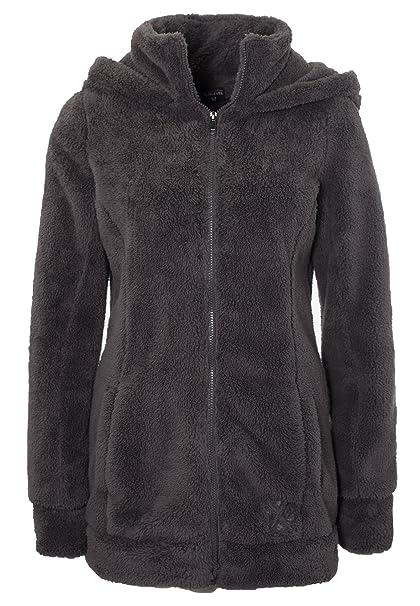 Sublevel Giacca da donna in pile peluche   Morbida giacca di pile a collo  alto,