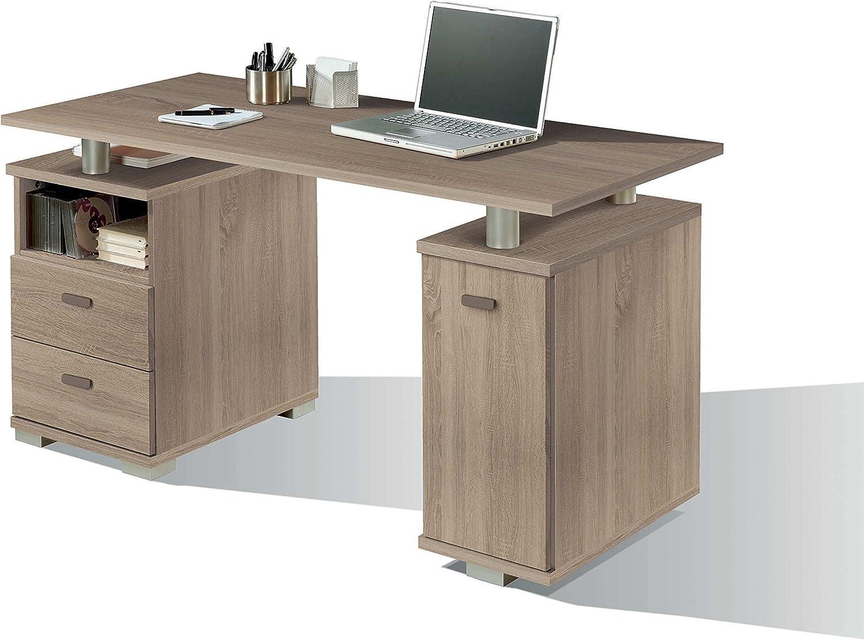 Escritorio mesa de ordenador multimedia color cambrian con cajones ...