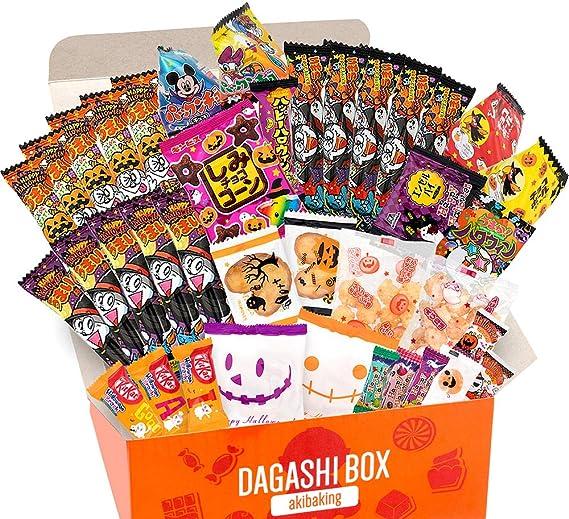 AKIBA KING Caja de set especial japonesa Dagashi Snack de Halloween limitada en la temporada de Halloween: Amazon.es: Alimentación y bebidas